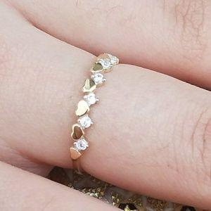 Jewelry - Dainty 14k Heart Band Ring